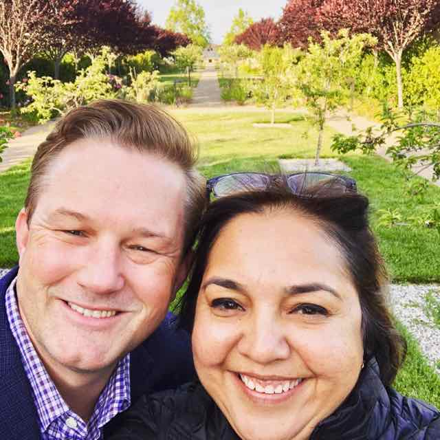Saloni and Stephen smiling